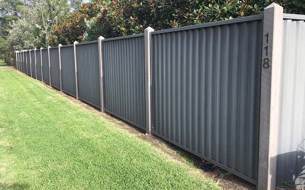 Outdoor Fencing using Colorbond