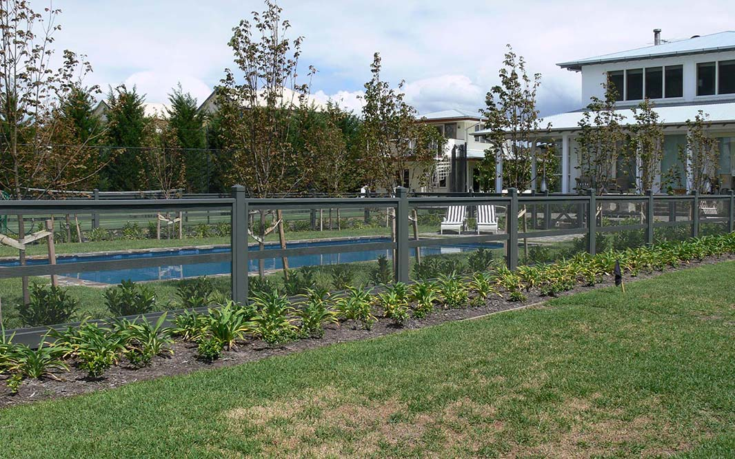 Aviary Wire Garden Pool Fencing Design
