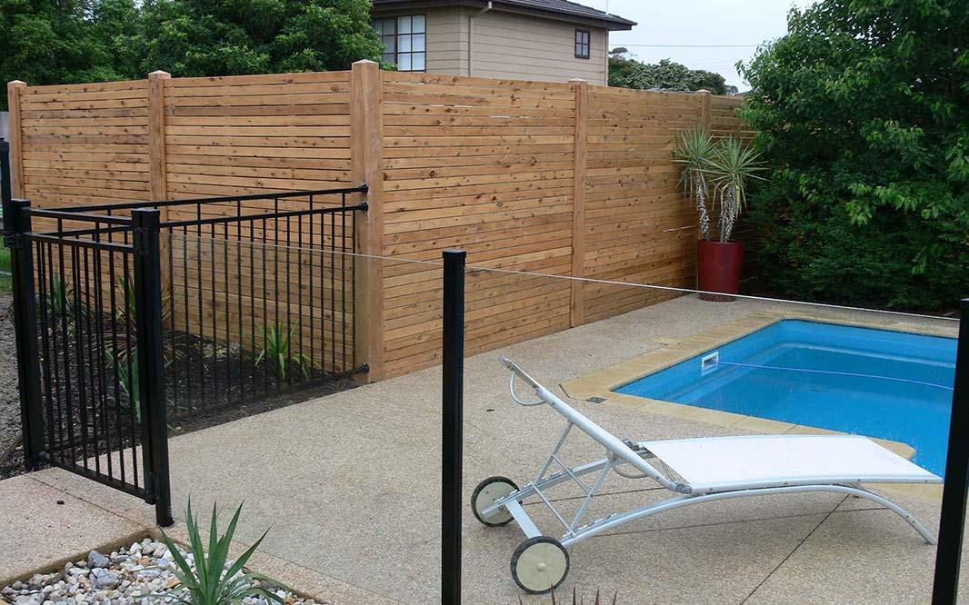 Secure Pool using Steel Fencing