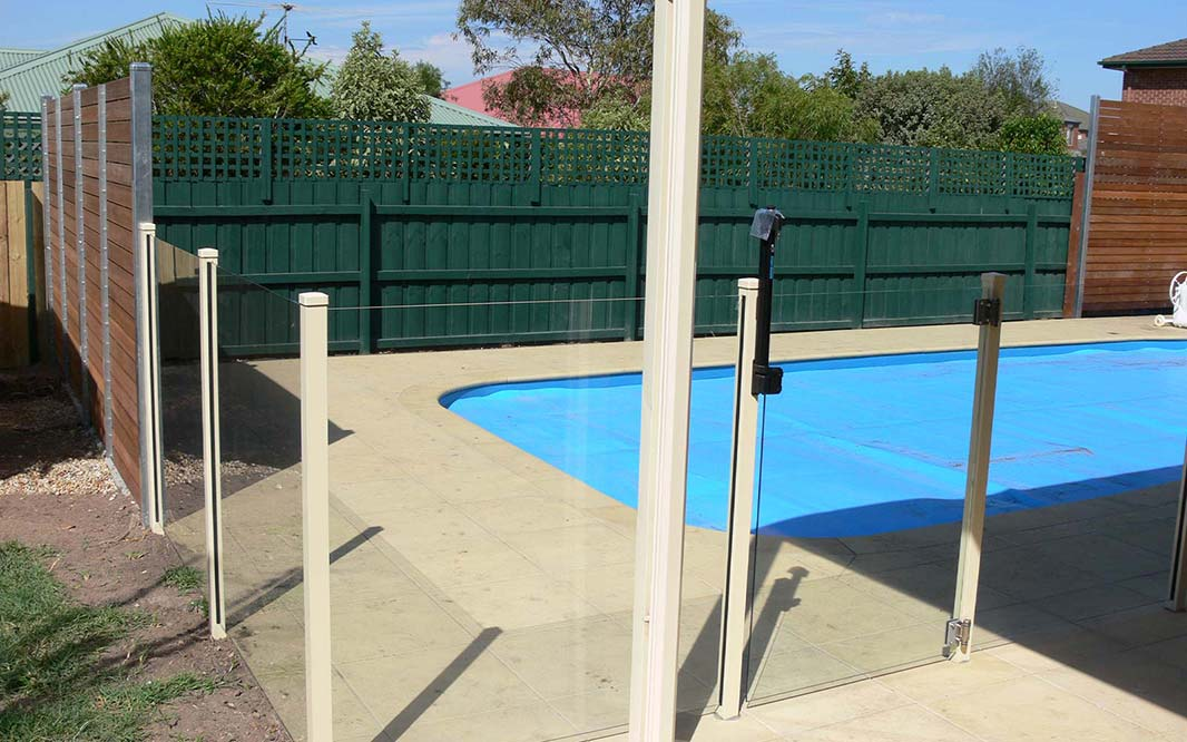 Swimming Pool with Glass Fencing