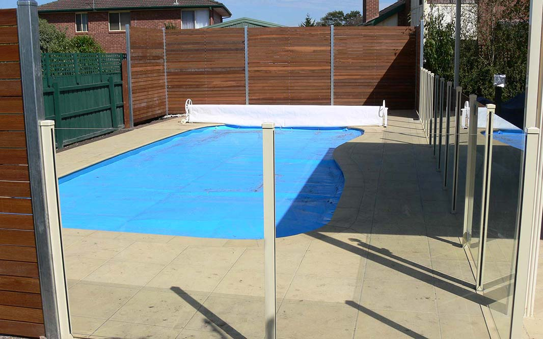 Pool Fencing with Glass and Steel