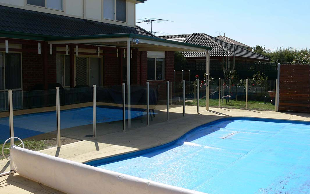 Pool Cover and Glass Fencing