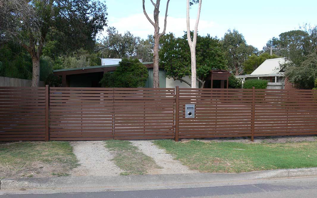 Property Fencing Using Slat