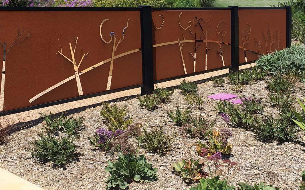 Unique Fencing Design for Garden