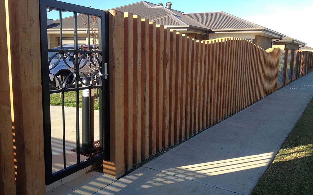 Timber Fencing for Garden