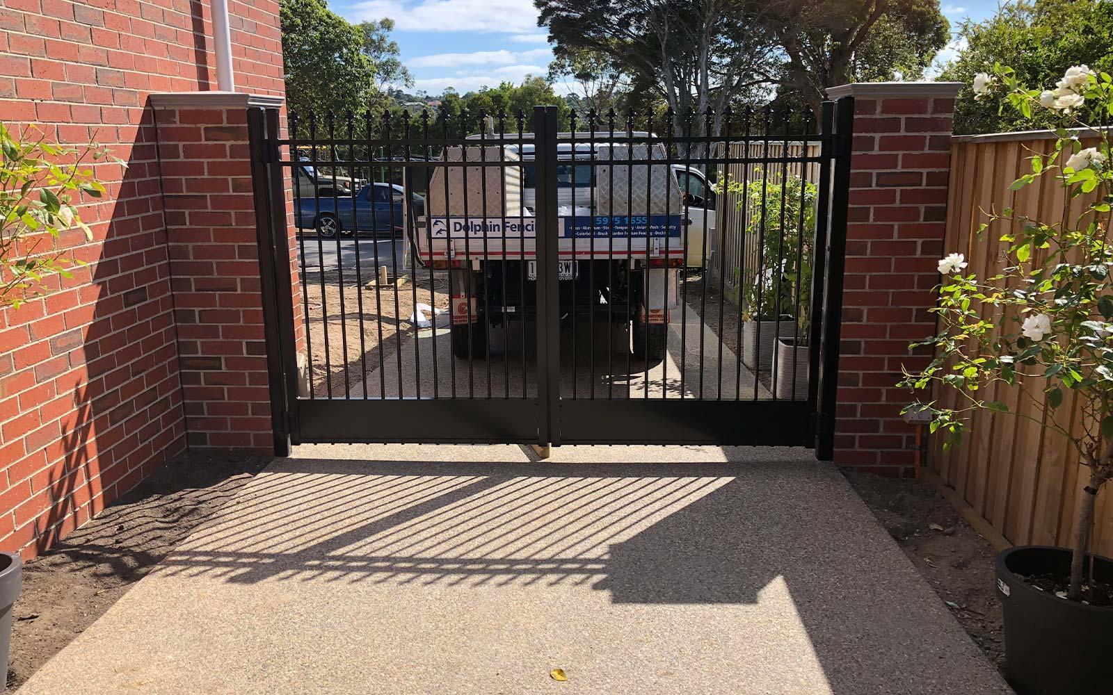 double swing gates